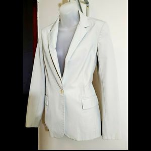 THEORY Light Gray Blazer Fully Lined With …